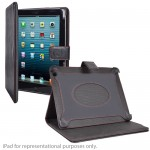 Digital Treasures Props Polyurethane Leather Folio Case & 8000mAh Power Bank for iPad 2/3/4 & Other USB Devices (Black)