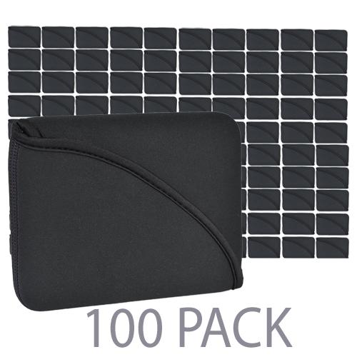 """(100-Pack) PC Treasures FlipIt Neoprene/Polyester Sleeve for 8"""" Tablet (Black)"""