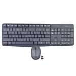 Logitech MK235 2.4GHz Wireless USB Keyboard & Optical Mouse Kit w/USB Nano Receiver (Gray) - B