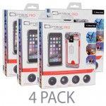(4-Pack) Optrix by Body Glove Pro 4 Lens Action Camera Kit for iPhone 6/6s w/Waterproof Case & Interchangeable Lens