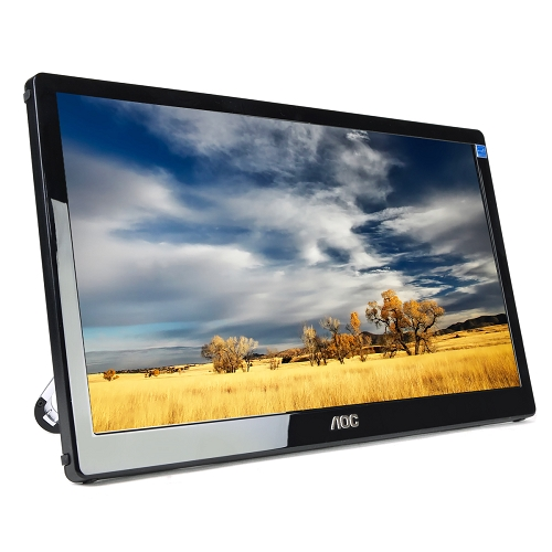 "17.3"" AOC Portable USB 3.0 Powered Ultra-Lightweight Add-on Monitor - The Perfect Accessory for Your Laptop!"