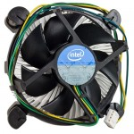 "Intel Socket 1155/1156 Aluminum Heat Sink & 3.5"" Fan w/4-Pin Connector up to Core i3 3.06GHz"