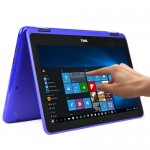 "Dell Inspiron 11 Touchscreen Pentium N3710 Quad-Core 1.6GHz 4GB 500GB 11.6"" LED Convertible Laptop W10H (Blue) - B"