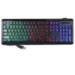 iMicro KB-US9821C 104-Key Rainbow Backlit USB Wired Multimedia Keyboard (Black)
