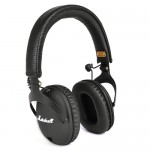 Marshall MONITOR Foldable Over-Ear Studio Headphones w/Detachable Inline Remote/Mic 3.5mm Cable & Case (Black)
