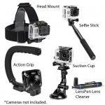 Sunpak Action Camera Accessory Kit w/Selfie Stick