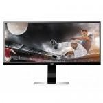 """34"""" AOC U3477PQU DVI/HDMI/VGA/DisplayPort 3440x1440 UltraWide Rotating LED IPS LCD Monitor w/Speakers & 3-Screen Split"""