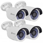 (4-Pack) Swann CONHD-A1080X4 1080p Indoor/Outdoor Bullet IP Security Network Cameras w/30IR LEDs & 115' Night Vision