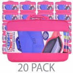 "(20-Pack) PC Treasures SlipIt! Nylon Sleeve Case for 17"" Notebook (Pink)"
