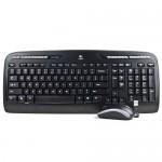 Logitech MK320 Desktop Wireless Multimedia Keyboard & Optical Mouse Kit (Black)