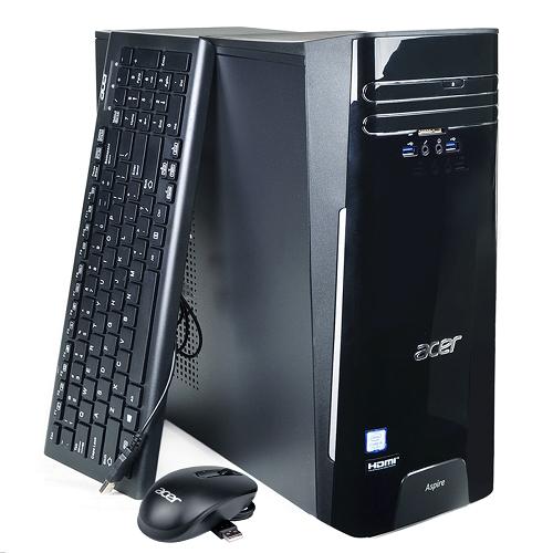 Acer Aspire TC-780-ACKi3 Core i3-7100 Dual-Core 3.9GHz 8GB 1TB DVD±RW W10H Desktop PC w/HDMI