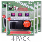 (4-Pack) Dri-Mark UVD549 iDetector Counterfeit Currency & ID Detector w/Ultraviolet Light (Black)