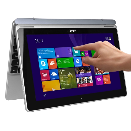 """Acer Aspire Switch 11 Touchscreen Core i3-4012Y Dual-Core 1.5GHz 4GB 128GB SSD 11.6"""" IPS Convertible Notebook W8.1"""