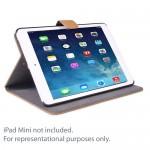 SlickBlue Luxury Leatherette Smart Case for Apple iPad mini (Light Brown)