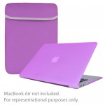 """SlickBlue 4-in-1 Accessory Kit for 13"""" MacBook Air w/Sleeve/Hard Case Cover/Keyboard Cover/Screen Protector (Purple)"""