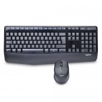 Logitech MK345 Wireless French Canadian Keyboard & Optical Mouse Combo w/USB Nano Receiver (Black)