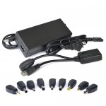 Tech Universe TU1502 90W Universal Laptop AC Power Adapter w/9 Power Tips & USB Charging Adapter (Black)