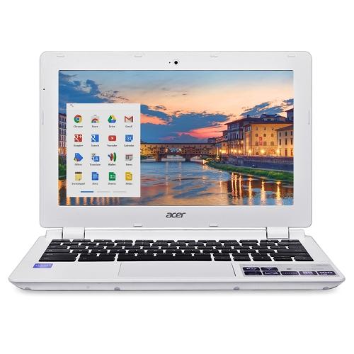 "Acer CB3-111-C670 Celeron N2830 Dual-Core 2.16GHz 2GB 16GB SSD 11.6"" LED Chromebook Chrome OS w/Cam & BT (White) - B"