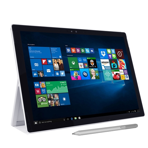 """Microsoft Surface Pro 4 Core i7-6650U Dual-Core 2.2GHz 8GB 256GB SSD 12.3"""" Multi-Touch Tablet W10 (Silver)"""