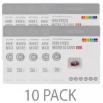 (10-Pack) ACTIVEON AA09S08 8GB High-Speed Class 10 microSDHC Memory Card