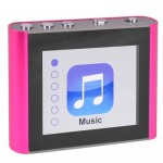 "Eclipse Fit Clip Plus PK 8GB MP3 USB 2.0 Digital Music/Video Player w/1.8"" LCD & Pedometer (Pink)"