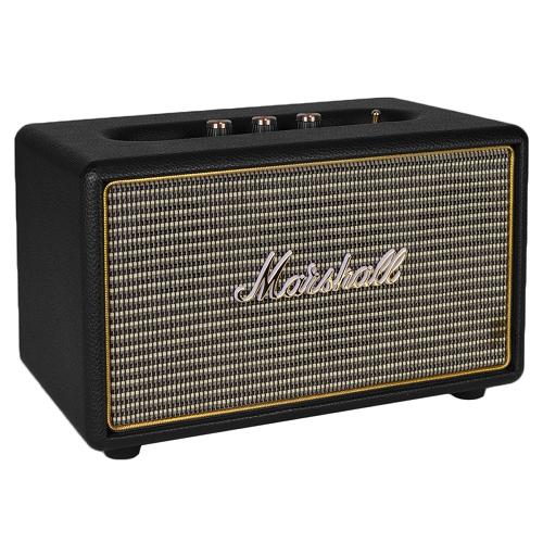 Marshall Acton 40W Bluetooth Wireless Portable Speaker w/Treble/Bass Knobs & 3.5mm Auxiliary Jack (Black/Gold)