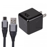Scosche reVOLT Pro 2.4A 12W Single Port USB Wall Charger + Micro USB Cable for Tablets