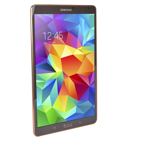 """Galaxy Tab S OctaCore (8-Core) 1.9GHz+1.3GHz 3GB 16GB 8.4"""" 2560x1600 Capacitive Tablet Android 4.4 (Titanium Bronze)"""