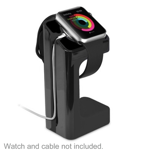 Acellories Apple Watch Charging Stand for Apple Watch 38mm and 42mm (Black) - Retail Hanging Package