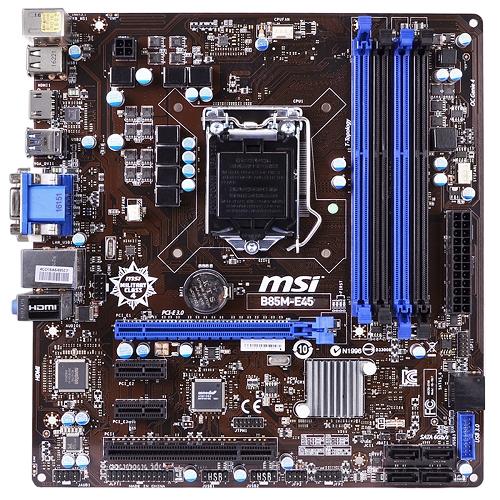 MSI B85M-E45 Intel B85 Socket 1150 mATX Motherboard w/HDMI