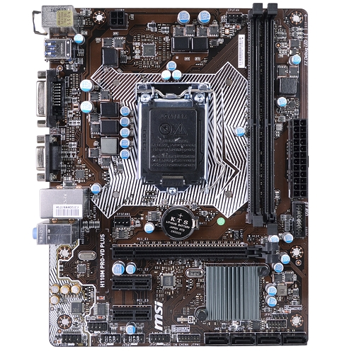 MSI H110M PRO-VD PLUS Intel H110 Socket 1151 mATX Motherboard w/DVI