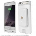 Stacked Wireless Magnetic Charging Kit for iPhone 6/6s w/2x Magnetic Power Pack (White)